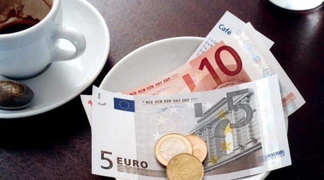 евро в блюдце
